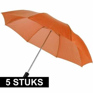X compacte paraplus oranje