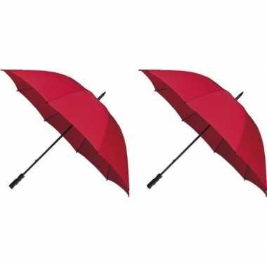 X stormparaplu rood