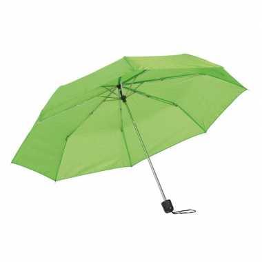 X stuks kleine uitvouwbare paraplus groen
