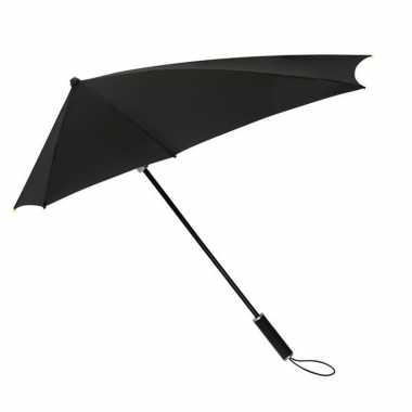 X stuks windproof storm paraplu zwart