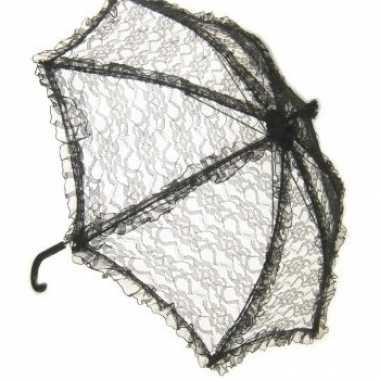 Zwarte paraplu kant