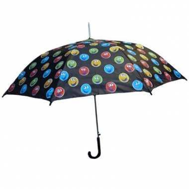Zwarte paraplu smileys
