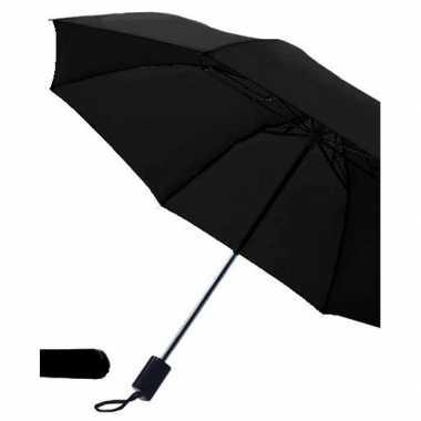 Zwarte paraplu uitklapbaar hoes