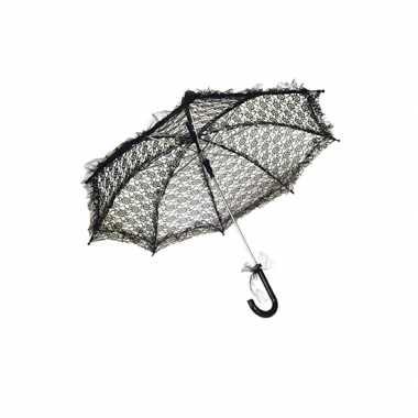 Zwarte vinage paraplu