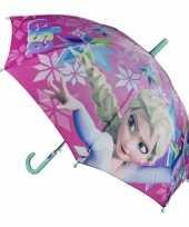 Meisjes frozen paraplu roze