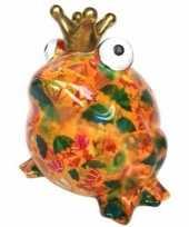 Spaarpot kikker oranje paraplu